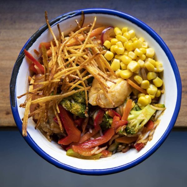 wok de pollo con verduras