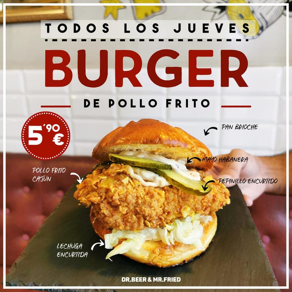 Burger Pollo Frito